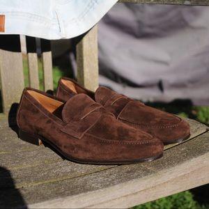 gravati suede Italian leather shoes, like new